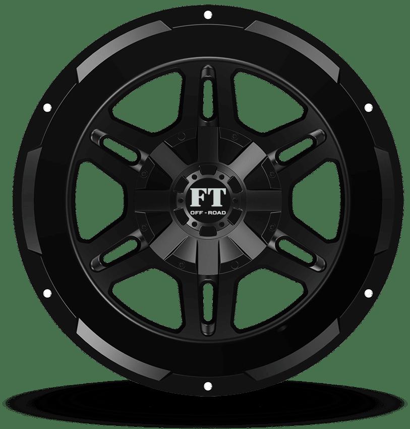 Full Throttle FT-3 Black Wheels