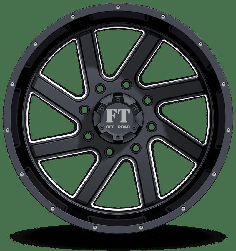 Full Throttle FT-1 Gloss Black Milled Wheels