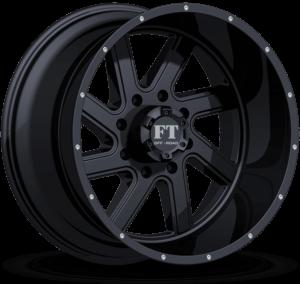 Full Throttle FT-1 Satin Black Wheels