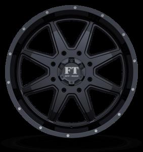 Full Throttle FT-2 Satin Black Wheels