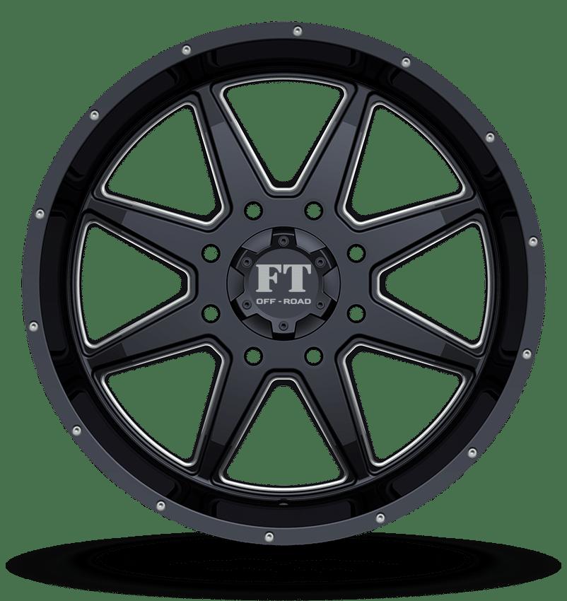 Full Throttle FT-2 Black Milled Wheels