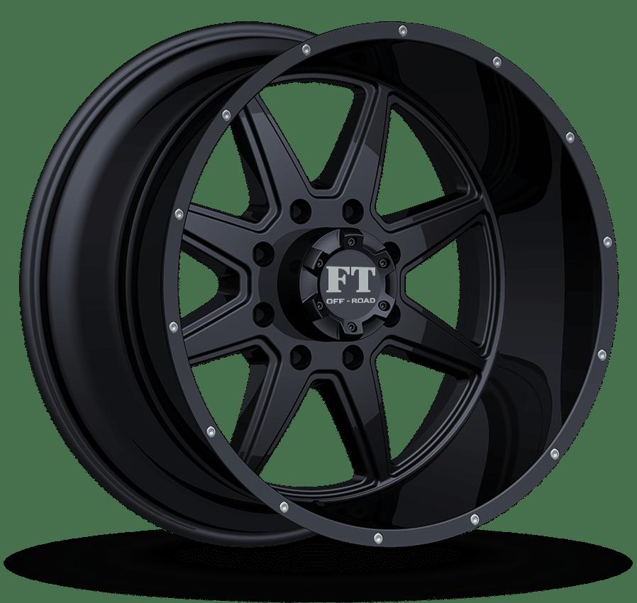 Full Throttle FT-2 Black Wheels