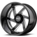 Moto Metal MO400 Gloss Black Milled Wheels