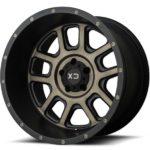 XD828 Delta Matte Black Wheels with Dark Tint