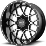 Moto Metal MO986 Gloss Black Machined Wheels
