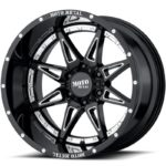 Moto Metal MO993 Gloss Black Milled with Chrome Inserts
