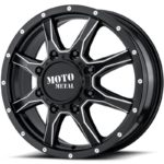 Moto Metal MO995 Satin Black Milled Dually Front
