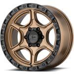 XD139 Portal Satin Bronze Wheels with Black Lip