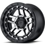 XD140 Recon Satin Black Machined Wheels