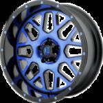 XD820 Machine Black Wheels with BlueTint