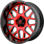 XD820 Machine Black Wheels with Red Tint