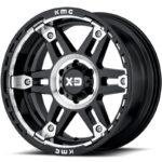 XD840 Spy II Gloss Black Machined Wheels
