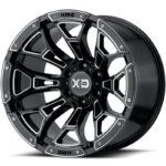 XD841 Boneyard Gloss Black Milled Wheels