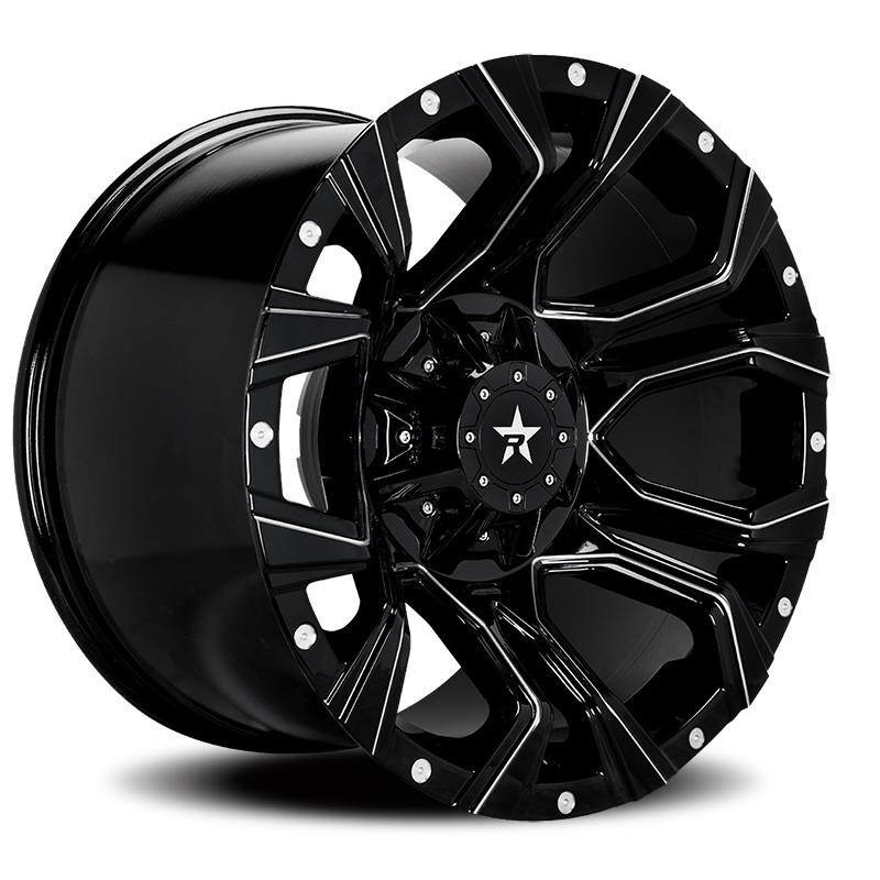 RBP 64R Widow Black Milled Wheels