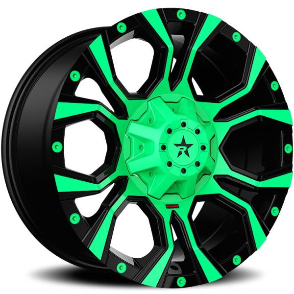 RBP 64R Widow Green and Black Wheels