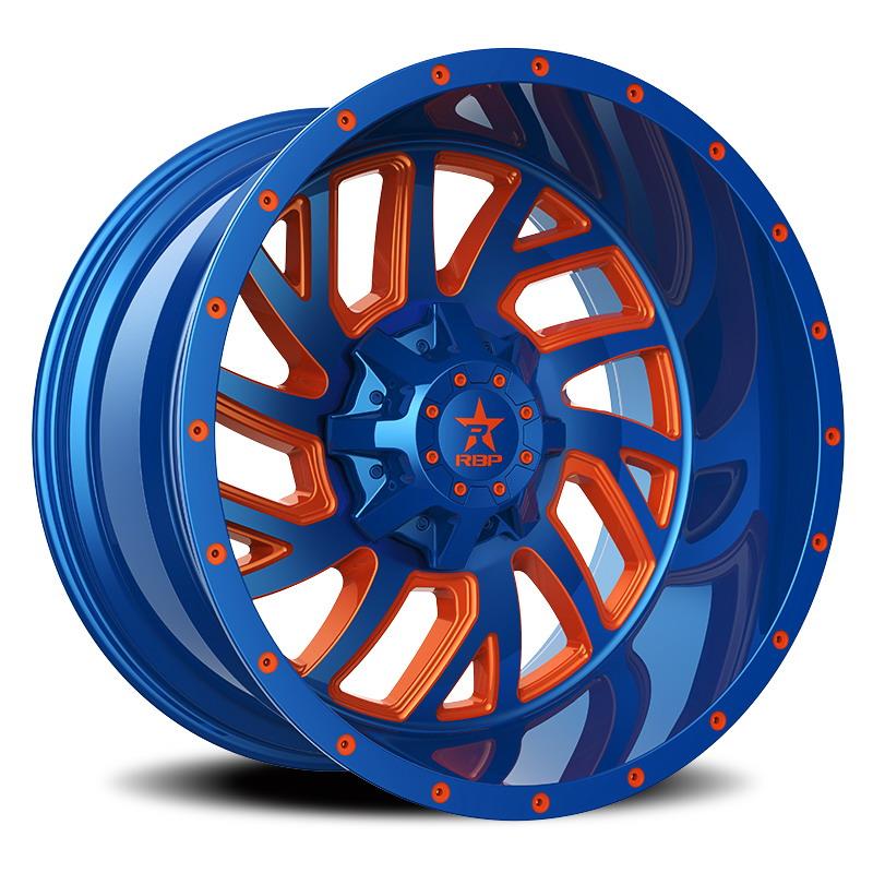 RBP 65R Glock Blue with Orange Milling