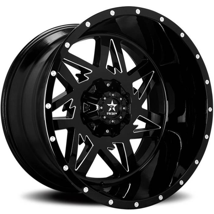 RBP 71R Avenger Black Machined Wheels