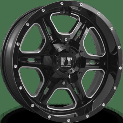 Full Throttle FT6054 Gloss Black Milled